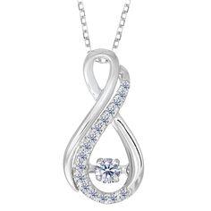 White Gold Figure Eight Infinity Sign Dancing Diamonds 18 Inch Necklace - Diamond - JewelryAffairs - 1 Infinity Jewelry, Infinity Pendant, Infinity Necklace, Tanzanite Pendant, Luxury Jewelry, Diamond Jewelry, Diamond Necklaces, Fine Jewelry, Fashion Jewelry