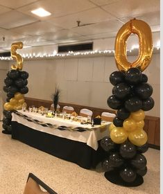 A Black Color Theme At 50th Birthday Party Is The Perfect Way To