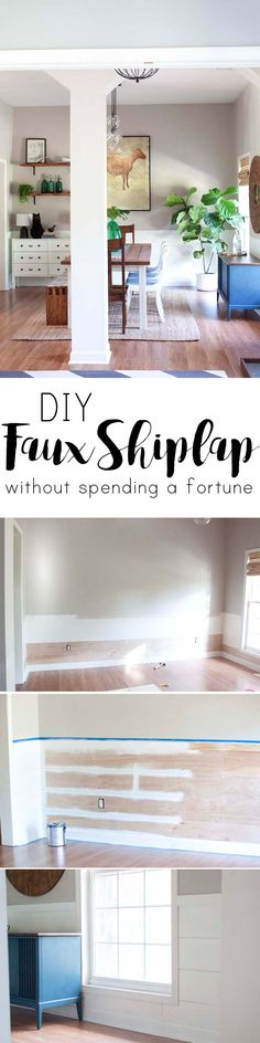 how to make a shiplap wall