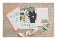free photo-thank-you-note printables -- customize colors. I love free stuff