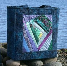 Crazy Patch Open Tote by AllThatPatchwork, via Flickr