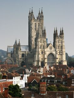 Canterbury Cathedral, one of the oldest and most famous christian structures in England, founded in 597 it was completely rebuilt in 1070, Kent, UK