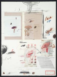 Cy Twombly(1928‑2011), No. IV(From Natural History, Part I, Mushrooms), 1974, Lithograph and mixed media on paper, 758 x 558 mm   © The estate of Cy Twombly License this image