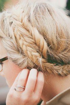 fishtail milkmaid braids