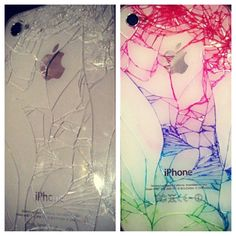 Make cracked iphones look cool with sharpies! This is cool, but I would get nervous the ink could ruin something