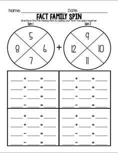 1st Grade Math Printables Worksheets- Operations and