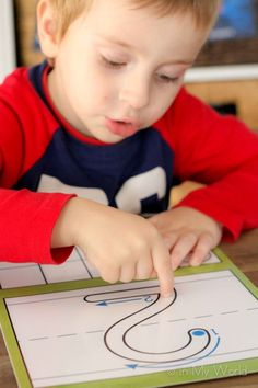 Finger tracing numbers prior to writing is beneficial as it teaches the path of motion, helping little ones remember correct number formation when it's time to start writing!
