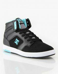 DC Nyjah Hi Skate Shoes - Black/Celtic