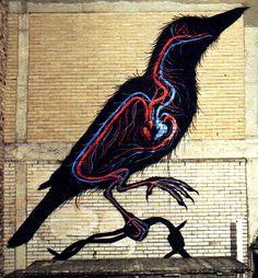 ROA Belgian graffiti artist - taken from Very Nearly Almost magazine issue 12