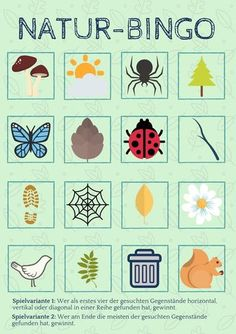 Discover nature with children: nature bingo - a search game for woods and meadows - Spiel Hidden Object Games, Hidden Objects, Diy For Kids, Crafts For Kids, Nanny Activities, Art Mat, Painting Activities, Building For Kids, Science Experiments Kids