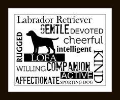 Subway Art Wall Decor Labrador Retriever by GoingPlaces2 on Etsy
