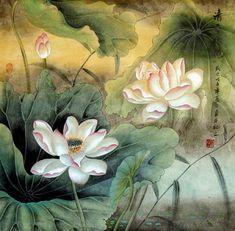 Chinese Lotus Painting