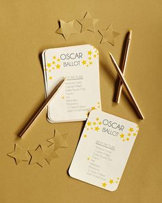 Oscar Party Must Haves