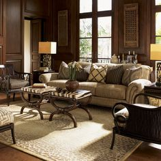 Royal Kahala Edgewater Rolled Arm Sofa with Nailhead Trim by Tommy Bahama Home - Baer's Furniture - Sofa Miami, Ft. Lauderdale, Orlando, Sarasota, Naples, Ft. Myers, Florida