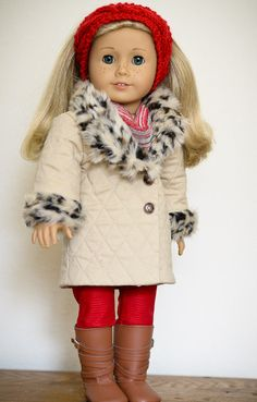 AnnasGirls @etsy  rendition of the Many Small Friends *Urban Belted Coat pattern* - Love it with the buttons!