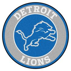 81458bf0f FANMATS NFL Detroit Lions Blue 2 ft. x 2 ft. Round Area Rug-17958 - The  Home Depot