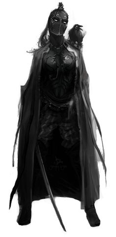 Assassin by Sergey Lesiuk- Oh creeevins yesss. The Assassin- obviously Dark Fantasy, Fantasy Armor, Fantasy World, Fantasy Queen, Fantasy Female Warrior, Warrior Queen, Dnd Characters, Fantasy Characters, Female Characters
