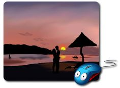 Digital Art Artwork Romantic Landscape Couple Love Night beach