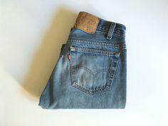 Vintage Men's 80's Levi's 501, Selvedge Jeans, Blue, Red Tab, Denim (W30 x L30) by Freshandswanky on Etsy