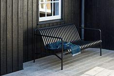 Order your Palissade Lounge Sofa. An original design by Ronan and Erwan Bouroullec, this outdoor lounge sofa is manufactured by HAY. Outdoor Sofa, Black Outdoor Furniture, Outdoor Seating, Outdoor Spaces, Outdoor Decor, Backyard Furniture, Urban Furniture, Pallet Furniture, Outdoor Living