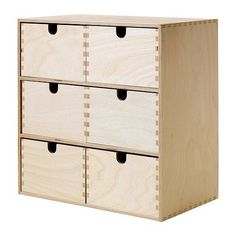 Ikea-Moppe-Mini-Wooden-Chest-Of-6-Drawers-Multi-Use-Storage-Boxes-Jewellery-Box