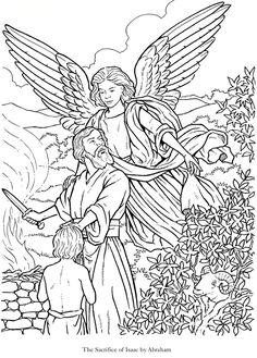 Angels Printable Coloring Page Welcome to Dover Publications