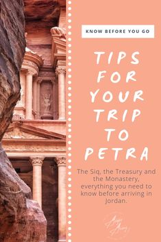 Looking for things to do in Petra? Check this out! Whether you want to explore Petra by day or Petra by night, this itinerary will help you plan your time in the Rose Red City. Be sure to check out the Monastery and all the different hiking trails. See you there! #Petra #Tips #Travel #Thingstodo