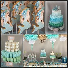 Ocean inspired girls birthday party !  Maybe Ariel will show up as well !!