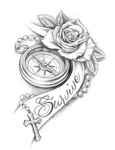 The most popular 30 clock tattoo design ideas for women Band Tattoos, Watch Tattoos, Rose Tattoos, Sexy Tattoos, Body Art Tattoos, Tattoos For Women, Sleeve Tattoos, Tatoos, Chicano Tattoos
