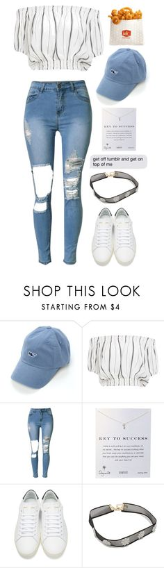 """Unbenannt #2337"" by avonearth ❤ liked on Polyvore featuring Vineyard Vines, Faithfull, Dogeared and Yves Saint Laurent"