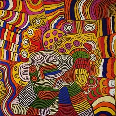 "ABORIGINAL ART PAINTING by MAISIE CAMPBELL NAPALTJARRI ""WOMEN's CEREMONY"""