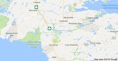 Χάρτης του/της French River, Οντάριο, Καναδάς