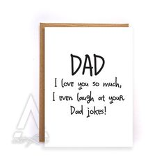 Fathers day card from daughter fathers day card funny by artRuss