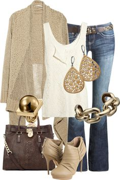 """#fall #purse   """"Untitled #205"""" by alison-louis-ellis on Polyvore. Love the bag (michael kors)"""