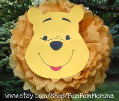 Winnie el Pooh inspirado pompones por PomPomMomma en Etsy