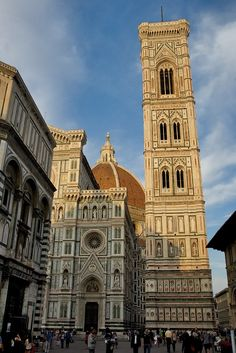 Just to the right of the Duomo entrance stands the Campanile or bell tower. Italy