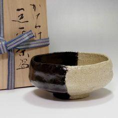 RAKU CHAWAN Modern Black Pottery Tea Bowl w/box by Sasaki Shoraku #2170 - ChanoYu online shop