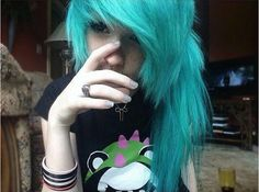 Becouse you never get enough blue haired girls :3