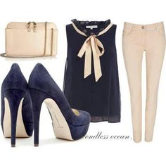 The blue business outfit