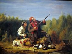 William Tylee Ranney (American artist, 1813-1857)  Wild Duck Shooting - On the Wing 1850