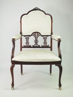 ~ Edwardian Mahogany Armchair, or Bedroom Chair ~ antiques-atlas.com