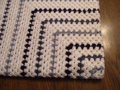 Handmade crochet baby blanket bright multicolor baby by karliesue