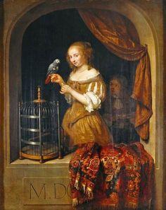 1666 Caspar Netscher (1635-1684) Lady at the Window