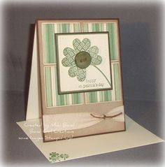 St Patrick's Day card  Shamrock  Handmade by BondGirlCreations26