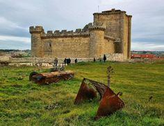 Castillo de Villafuerte de Esgueva en la provincia de Valladolid