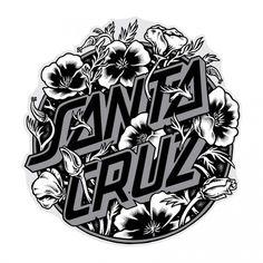 """Santa Cruz Skateboards Santa Cruz Cali Poppy Dot 3"""" Sticker"""