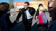 As polls suggest the B.C. election race is tightening, New Democrat Leader Adrian Dix is becoming more strident in his criticism of the Liberals. While Dix called Christy Clark's campaign tactics offensive and misleading on Monday, Clark was welcoming some support from Gordon Wilson, a former Liberal leader who jumped ship to the NDP in 1999 before leaving politics.   Read more: http://bc.ctvnews.ca/election-2013-dix-gets-scrappier-says-campaign-still-positive-1.1270107#ixzz2SdrH3cAq