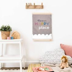 Our Happy Place – Art Print – And so to Shop Kids Bedroom, Bedroom Decor, Weaving Process, Frame Sizes, Art Prints, Places, Happy, Shop, Fun