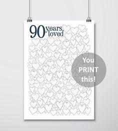 90th Birthday Gift For Men