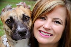 Inspiring story of a woman severely attacked by a pitbull who over comes her fear and rescues an abused pitbull and works to change animal abuse laws.